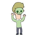 Cartoon man in skull mask Stock Image