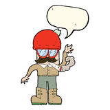 cartoon man smoking pot with speech bubble Royalty Free Stock Image