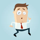 Cartoon man is sneaking. Funny illustration of a cartoon man is sneaking Royalty Free Stock Photos