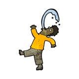Cartoon man spitting water Stock Photos