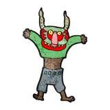 Cartoon man in spooky mask Royalty Free Stock Photos