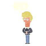 Cartoon man staring with speech bubble Royalty Free Stock Photo
