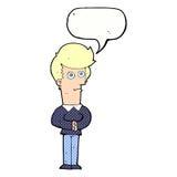 Cartoon man staring with speech bubble Stock Photos