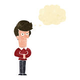 Cartoon man staring with thought bubble Royalty Free Stock Photos