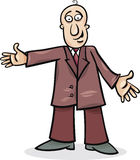 Cartoon man in suit. Cartoon illustration of funny man in suit Royalty Free Stock Photography