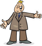 Cartoon man in suit. Cartoon illustration of funny man in suit Stock Photography