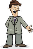 Cartoon man in suit Royalty Free Stock Images