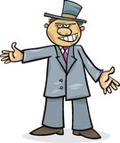 Cartoon man in suit Royalty Free Stock Photography