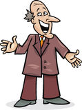 Cartoon man in suit Stock Photo