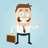 Cartoon man with suitcase royalty free illustration