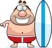 Cartoon Man Surfboard Stock Photography