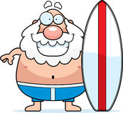 Cartoon Man Surfboard Royalty Free Stock Photography