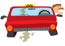 Cartoon man taxi driver creaming Stock Image