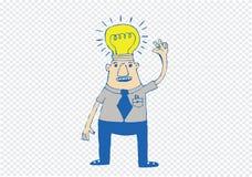 Cartoon man thinking style illustration Royalty Free Stock Images