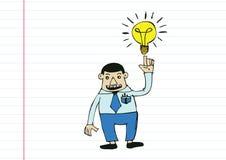 Cartoon man thinking style illustration Stock Photos