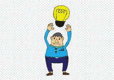 Cartoon man thinking style illustration Royalty Free Stock Photo