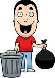 Cartoon Man Trash Royalty Free Stock Images