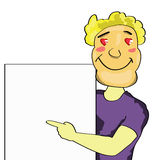 Cartoon man Stock Photos