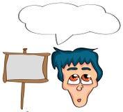 Cartoon man. Vector illustration of a cartoon man royalty free illustration