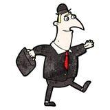 Cartoon man walking to work Royalty Free Stock Photo
