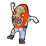 cartoon man wearing big mask Royalty Free Stock Photo