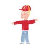 Cartoon man wearing cap Stock Image
