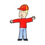 Cartoon man wearing cap Stock Photo