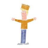 Cartoon man wearing crown Stock Photos