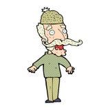 Cartoon man wearing hat Royalty Free Stock Photography