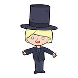 Cartoon man wearing hat Stock Photos