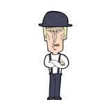 Cartoon man wearing hat Stock Photo