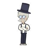 Cartoon man wearing hat Stock Photography