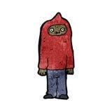 cartoon man wearing hooded top Stock Photos
