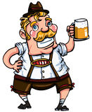 Cartoon man wearing a lederhosen Royalty Free Stock Photo