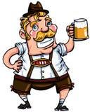 Cartoon man wearing a lederhosen Royalty Free Stock Photo
