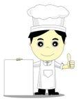 Cartoon man. On white background Stock Images