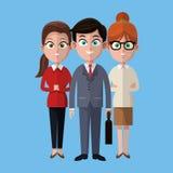 Cartoon man and women colleagues work business. Vector illustration eps 10 vector illustration