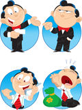 Cartoon manager. The illustration shows a few characters managers. These are men, they do business Royalty Free Stock Image