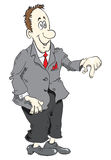 Cartoon manager Stock Image