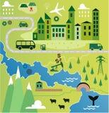 Cartoon map Stock Images