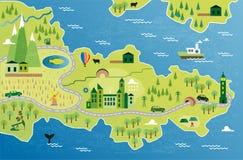 Cartoon map Royalty Free Stock Image