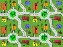 Cartoon map seamless stock image