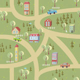 Cartoon map seamless pattern Stock Photography