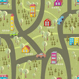 Cartoon map seamless pattern 2 Royalty Free Stock Photo