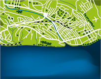 Cartoon map of Sochi Royalty Free Stock Images