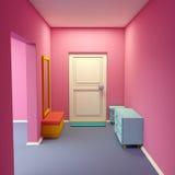 Cartoon Marina S Hallway Royalty Free Stock Photo