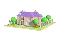 Cartoon marina`s house Stock Photography