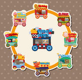 Cartoon market store car card Stock Images