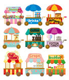 Cartoon market store car icon collection. Vector,illustration Royalty Free Stock Image