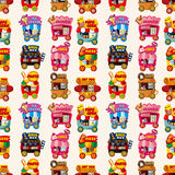 Cartoon market store car seamless pattern. Vector,illustration Royalty Free Stock Photos